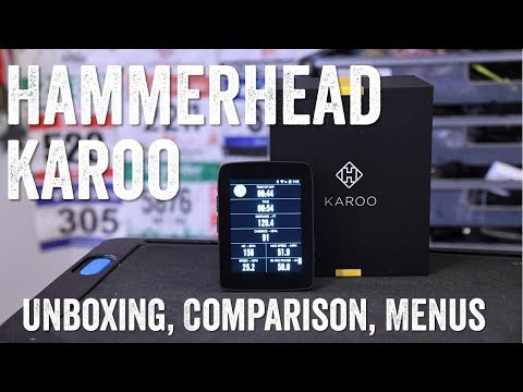 Hammerhead Karoo: Unboxing, Comparisons, UIMenus