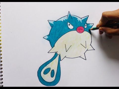 Dibujando Y Coloreando A Qwilfish (pokemon) - Drawing And Coloring To Qwilfish