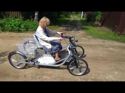 ECar. Электромобиль для пожилой женщины.