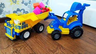 Трактор Погрузчик и другие Машинки в веселом видео для мальчиков