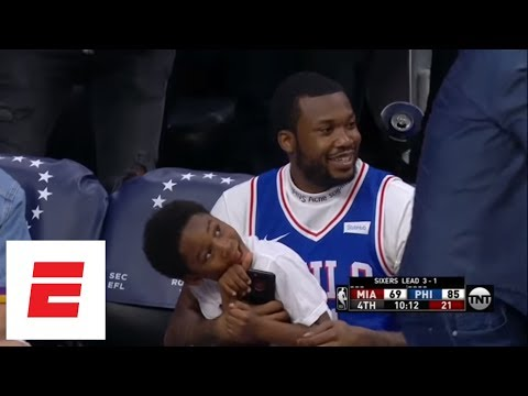 Best moments from Meek Mill's day, being released from prison and watching 76ers win | ESPN