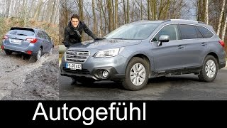 Subaru Outback FULL REVIEW test driven onroad/offroad 2.5i N/A 2016/2017 neu new - Autogefühl