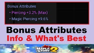 Maplestory 2 - Which Bonus Attributes are Best? (Info on Bonus Stats for Gear in Maplestory 2)