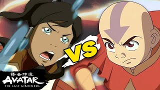 Avatar Aang vs Korra 💥 How Combat Evolved in the 70 Years Between Them