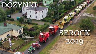 Dożynki Serock 2019 - snopowiązałka i 13 kombajnów ~ BIZON CLAAS CASE MASSEY FERGUSON URSUS