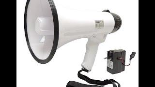 Ручной мегафон РМ-20СЗ с записью речи и звуков обзор(, 2015-09-28T12:16:16.000Z)