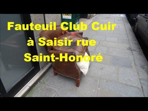 Rue Saint Honoré superbe fauteuil Club cuir à saisir 14 février 2018