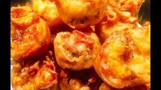 Làm bánh cống thơm giòn, nhìn là ghiền (Vietnamese fried shrimp cake) - - Bếp Nhà Nội