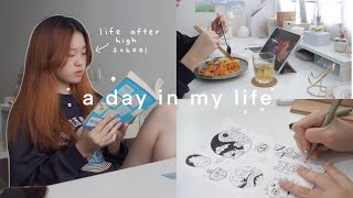 life after high school 🍰 shopee packages, new desk decor, self care 日常生活