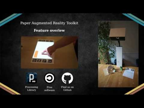 Augmented Reality, projection with Processing and PapARt