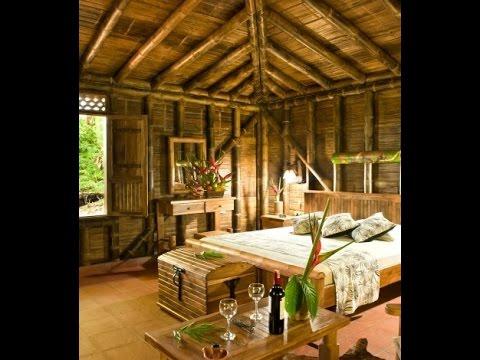 Casas ecol gicas ca a bamb interiores youtube - Bambu decoracion interior ...