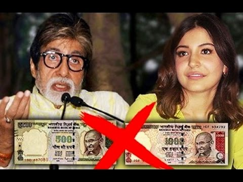 Bollywood Reacts To PM Narendra Modi Banning Rs 500, 1000 Currency Notes!