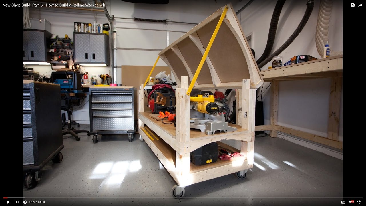 New Shop Build Part 6 How To Build A Rolling Workbench