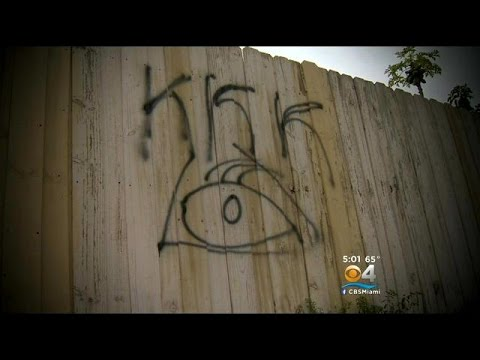 """KKK"" Threats Spray Painted On Miami Gardens Homes, Fences"