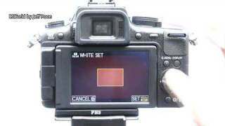 How to set the custom white balance in infrared photography