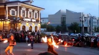 Шикарное фаер-шоу (огненное шоу). Иркутск 130-й кв-л