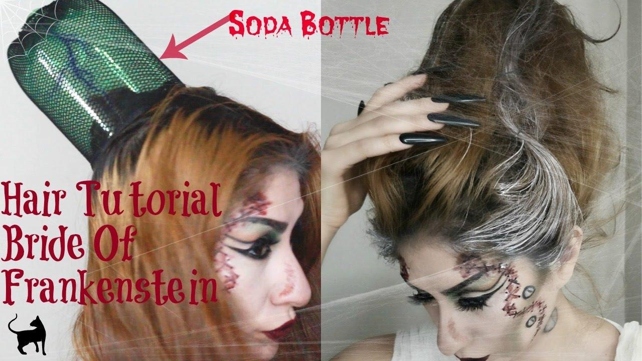 Bride of frankenstein hair tutorial using a soda bottle youtube junglespirit Images
