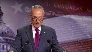 Chuck Schumer LAUGHS at Trump