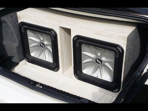 Custom speaker box for 2 kickers using Laminate flooring instead of carpet