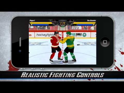 Hockey Fight Pro Video Game Available for the iPhone, iPod, iPad Touch, Android and MacOS.
