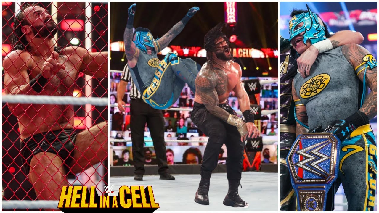 WWE Hell In A Cell 2021 Rey Mysterio Wins Universal Title? Drew Mcintyre Wins WWE Title HIAC 2021 ?