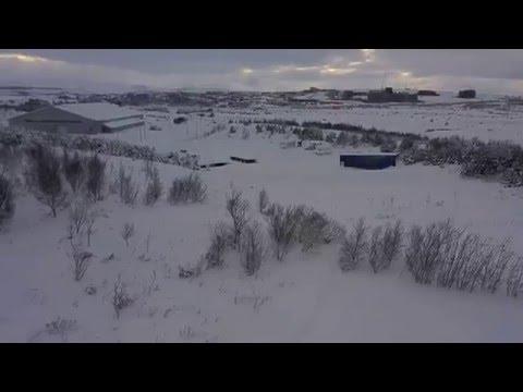 Snow in Reykjavik Iceland