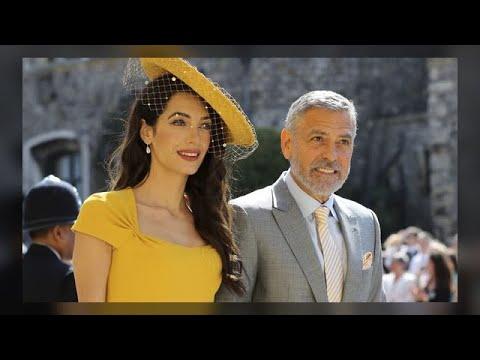 Royal wedding fashion: Amal Clooney is a ray of sunshine in yellow Stella ...