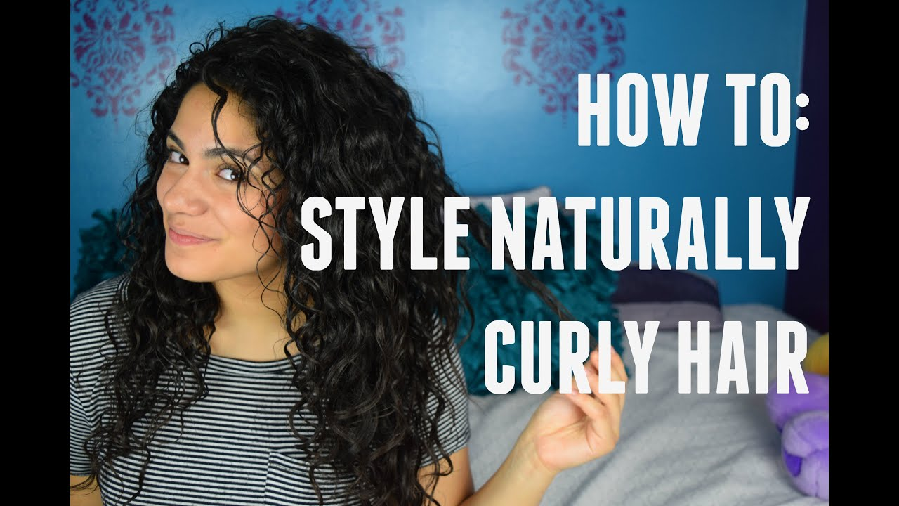 Hair Tutorial How To Style Naturally Curly Hair No Heat Youtube