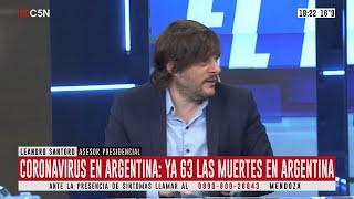 Cuarentena: Entrevista a Leandro Santoro en El Diario
