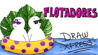 FLOTADORES PARA EL VERANO🌊☀️👙🍉🦄🍕🍩 | DrawXpress