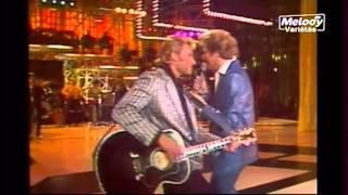 EDDY MITCHELL  JOHNNY HALLYDAY et DEPARDIEU.... Et la voix d elvis ( 1975 )