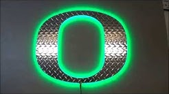 University of Oregon Diamond Plate O LED