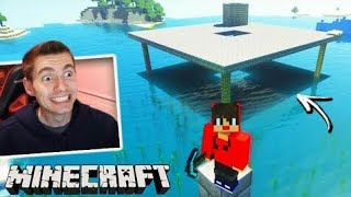 Minecraft: DUPLA SURVIVAL - A PLATAFORMA do FOGUETE NO MAR!!! #148