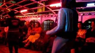 Sexy Egyptian woman dancing with Hijab