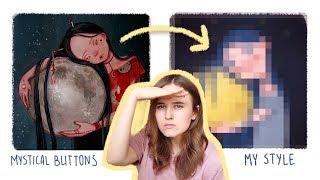 Перерисовываю иллюстрацию Mystical Buttons!
