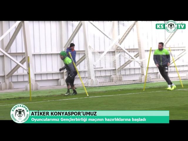 Atiker Konyaspor'umuzda 21.haftada oynanacak Gençlerbirliği maçı hazırlıkları başladı