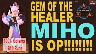 Gem Of The Healer Miho is OP - Monster Super League