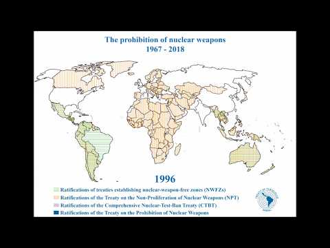 Timelapse on the prohibition of nuclear weapons (1967-2018)
