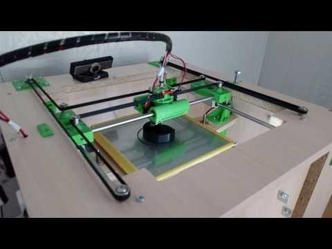 Самодельный H-bot в работе