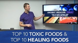 Top 10 Toxic Foods and Top 10 Healing Foods | Dr. Josh Axe