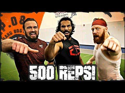Ep.08 Jinder Mahal & Drew McIntyre 500 Reps Workout...