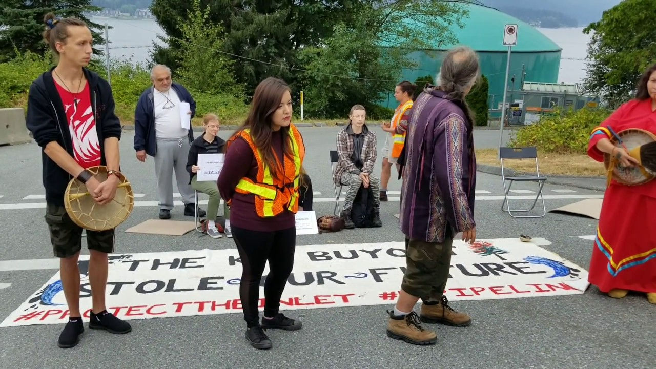 Bold Action against the Transmountain (Kinder Morgan) pipeline in Burnaby - August 1, 2018