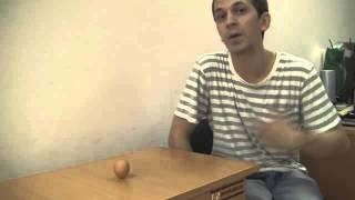 Как поставить яйцо вертикально? без подставок!