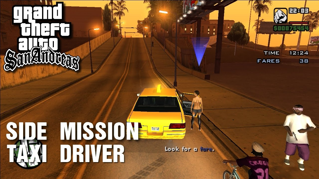 Gta San Andreas Side Mission Taxi Driver Youtube