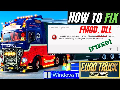 FMOD.dll was Not found??? Fix the program can't start because FMod.dll Missing Error Win10 32/64 bit