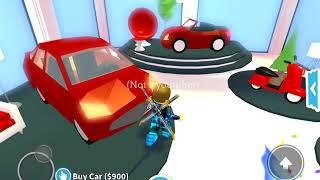 Buying my first car in Roblox Adopt Me!