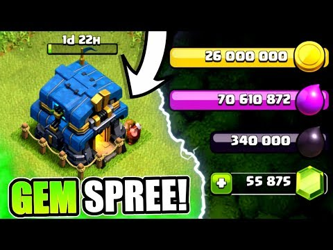 GEMMING TO TOWN HALL 12! ✅ UNLOCKING NEW FEATURES IN CLASH OF CLANS! - Phone Games