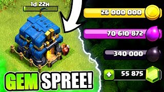 GEMMING TO TOWN HALL 12! ✅ UNLOCKING NEW FEATURES IN CLASH OF CLANS!