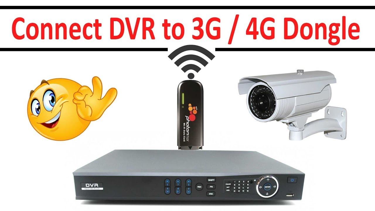 How to Connect 3g 4g Dongle to CCTV DVR! - Connect  Tata,JIo,BSNL,MTNL,Airtel,Reliance,MTS,Aircel