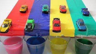 Кольори для дітей, щоб дізнатися з машинками неправильний колір води